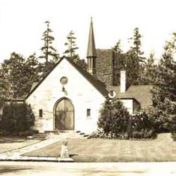 The original Garden Chapel. Total loss to arson in 1992, rebuilt and reopened in 1993.