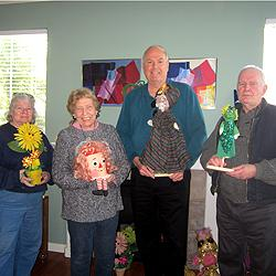 Our distinguished Puppet Selection Committee. (L to R) Nancy Covert, Dorothy Wilhelm, Jim Curley, Dick Meier.