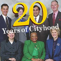 Members of the first council of the brand-new City of Lakewood, 1996.