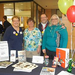 …is the LHS table, manned here by current President Sue Scott, Becky, Board Member Rich Wall and Secretary Sharon Taylor.