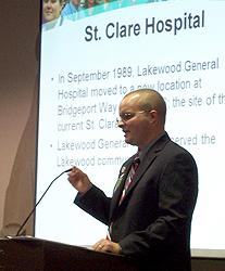 Tim Plante, Associate Administrator in charge of Patient Care Services for St. Clare Hospital.