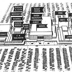 Map of Villa Plaza\'s original layout, 1957 (detail)