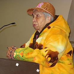 Zelma McCloud, Nisqually Tribal Elder.