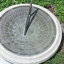 A sundial…perhaps not the best choice for telling time here in the soggy Northwest.