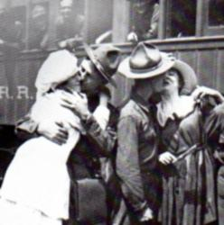Bidding farewell to loved ones before heading off to the front is no easier today than it was 100 years ago.